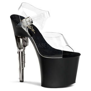 Shoes - High Heel Platform Stiletto Clear Peep Toe Shoes